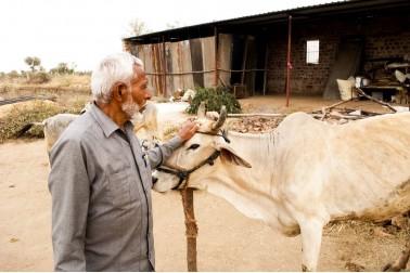 Portrait du producteur d'épices bio dans le Rajasthan, en Inde avec qui Epices Shira collabore