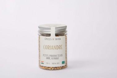 Pot de coriandre biologique (coriandrum sativum, coriander) en vente sur notre site Epices Shira