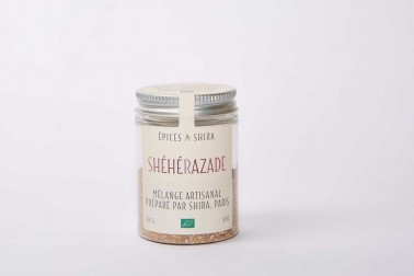 Pot de mélange shéhérazade bio. Une création de Epices Shira.
