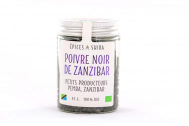Pot de poivre noir biologique de Zanzibar sélectionné par Epices Shira