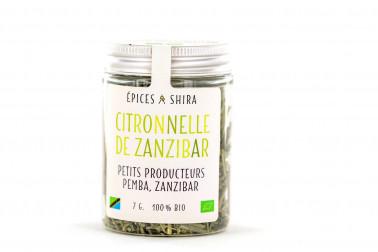 Pot de feuille de citronnelle biologique de Zanzibar, en vente sur notre site Epices Shira