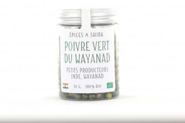 Pot de poivre vert biologique, en vente sur le site Epices Shira