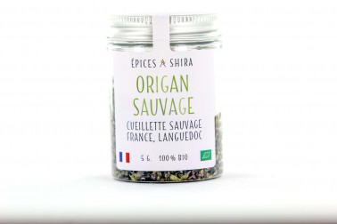 Pot d'origan bio et sauvage (origanum vulgare) du Languedoc en vente sur le site Epices Shira