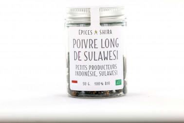 Pot de poivre long bio de Sulawesi en vente sur notre site Epices Shira