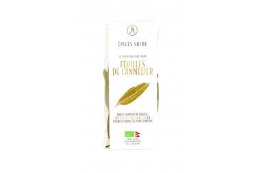 Sachet de feuilles de cannelier bio du Népal (cinnamomum tamala) en vente sur notre site Epices Shira