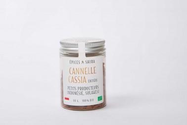 Pot de cannelle cassia de Sulawesi (cinnamomum cassia, cinnamon) en vente sur le site Epices Shira