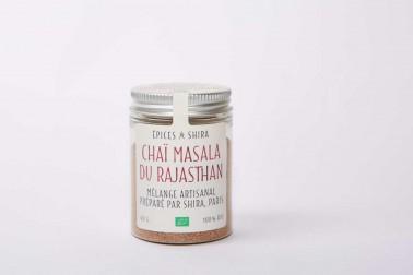Pot de chaï du Rajasthan bio en poudre, vendu sur le site de Epices Shira