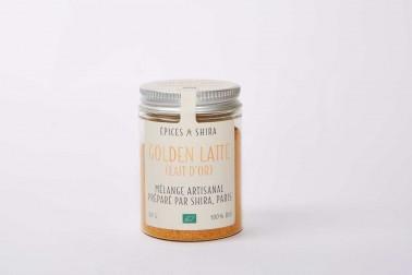 Pot de golden latte bio (lait d'or) en vente sur le site Epices Shira