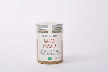 Pot de garam masala bio, un mélange vendu sur le site Epices Shira