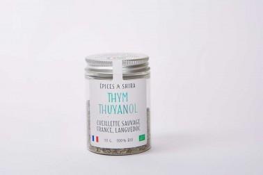 Pot de thym bio et sauvage. Thym français (thymus vulgaris) sélectionné par Epices Shira