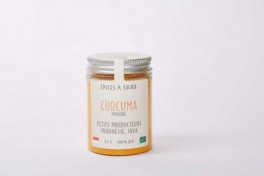 Pot de curcuma bio (curcuma longa) en vente sur notre site Epices Shira