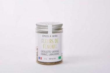 Pot de fleurs de fenouil bio et sauvages du Languedoc (foeniculum vulgare) en vente sur le site Epices Shira
