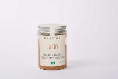 Pot de curry bio en vente sur le site Epices Shira