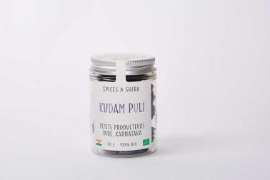 Pot de kudam Puli bio (garcinia cambogia) du Karnataka, en Inde en vente sur le site Epices Shira