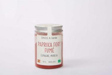 Pot de paprika fort fumé biologique (capsicum annuum) en vente sur notre site Epices Shira