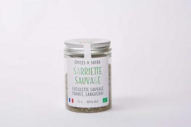Pot de sarriette bio et sauvage (satureja hortensis) du Languedoc en vente sur notre site Epices Shira