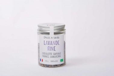 Pot de lavande fine bio et sauvage (lavandula angustifolia) du Languedoc, en vente sur notre site Epices Shira