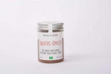 Pot de quatre-épices bio (4 épices), en vente sur notre site Epices Shira