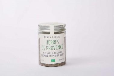 Pot d'herbes de Provence bio et sauvages du Languedoc en vente sur notre site Epices Shira