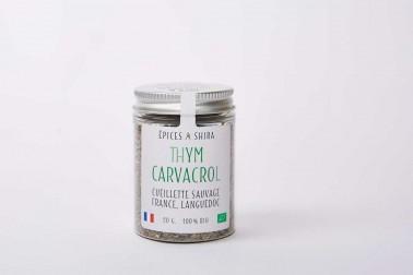 Pot de thym bio et sauvage (thymus vulgaris) du Languedoc en vente sur notre site Epices Shira