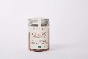 Pot de coffee rub bio, un mélange, en vente sur notre site Epices Shira
