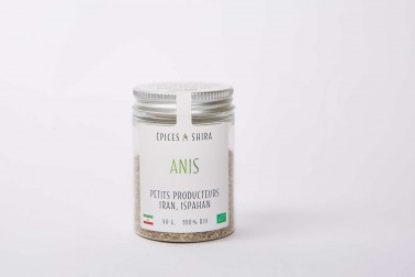Pot d'anis bio (pimpinella anisum, aniseed) en vente sur notre site Epices Shira
