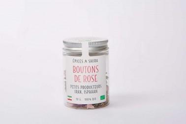 Pot boutons de rose d'Ispahan (rosa damascena, rose de Damas)  en vente sur notre site Epices Shira