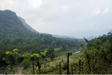 Paysage vallonné au Sri Lanka