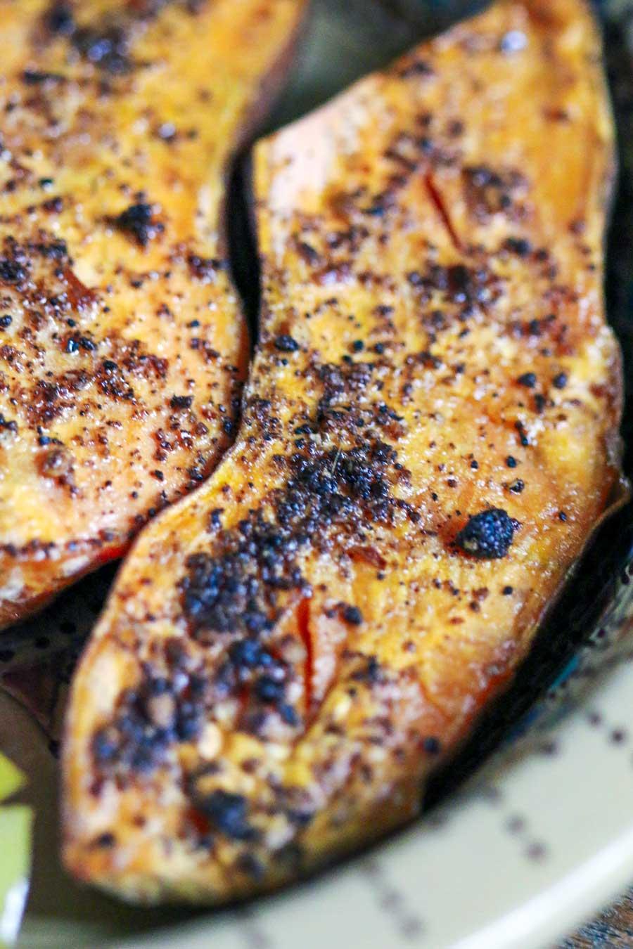 Patates douces au bukni masala