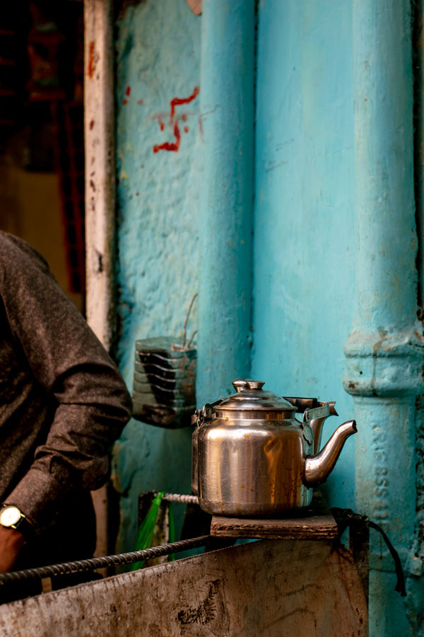 vendeur de chaï en Inde