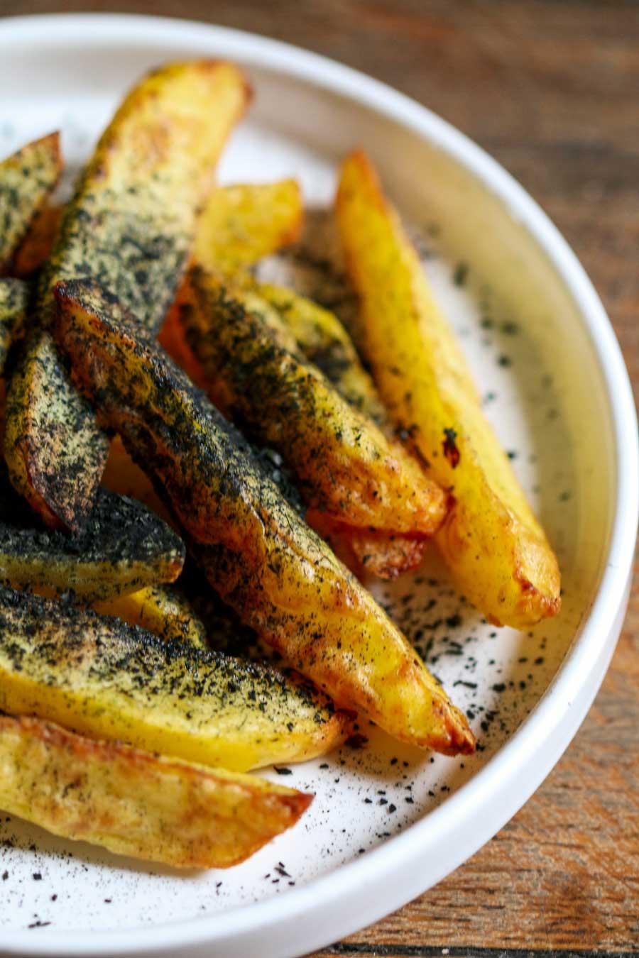 Frites au curry noir biologique