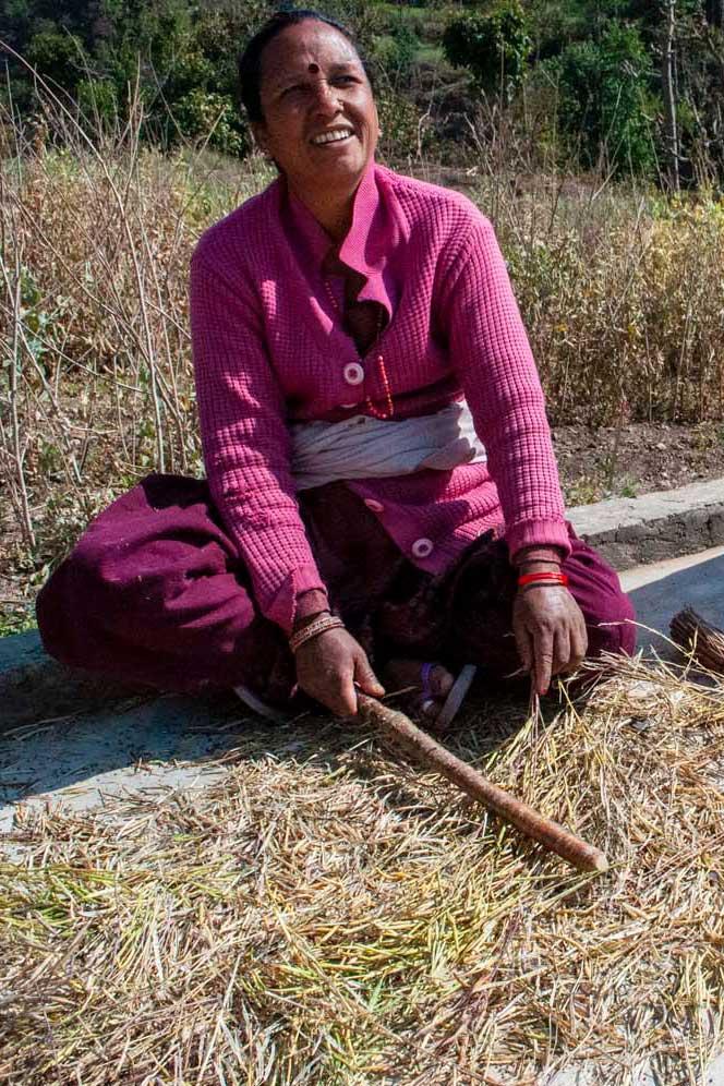 Prortrait de productrice népalaise