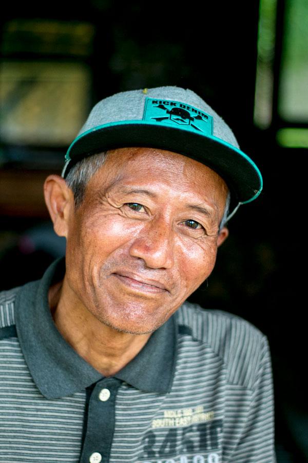 Producteur d'épices sur l'île de Java avec qui nous collaborons