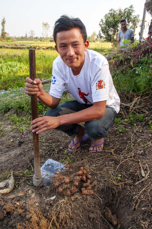 Producteur d'épices au Népal, avec qui nous collaborons