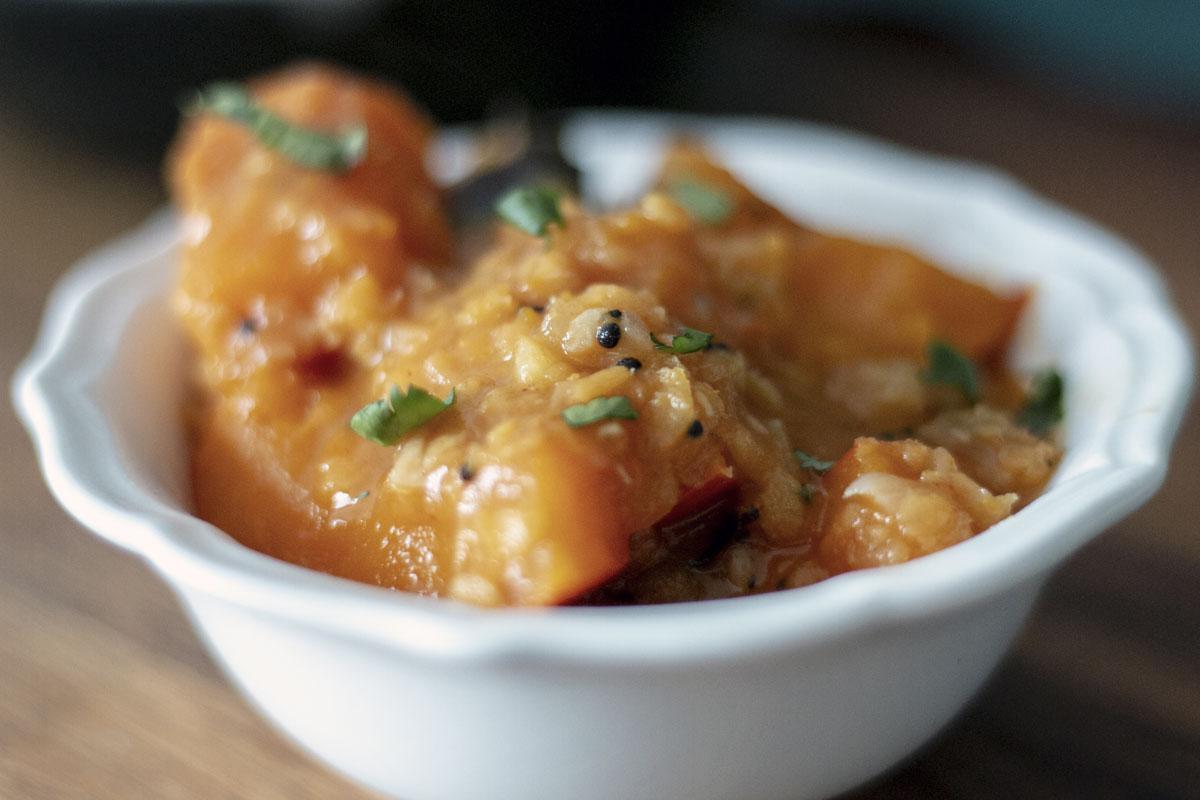 kaddu curry, recette végétarienne, recette vegan, recette sans gluten, épices biologiques, cuisine indienne, Épices Shira